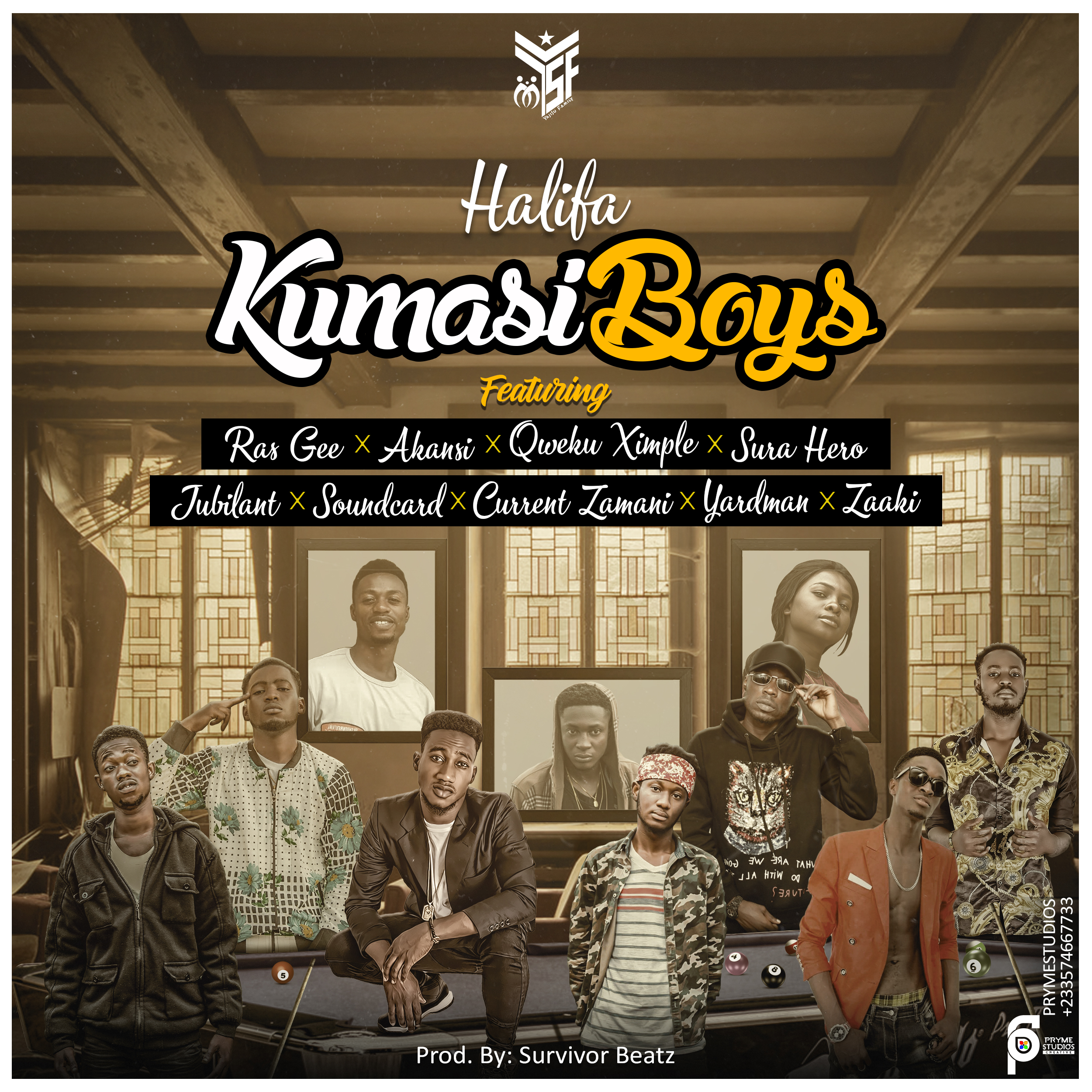 Halifa - Kumasi Boys - ft. Ras Gee x Akansi x suraj hero x Jubilant x Soundcard x Current Zamani x Yardman × Zaaki (Prod by. Survivor Beatz)