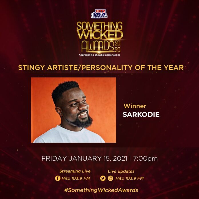 Sarkodie Wins Stingy Personality of the
